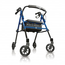 Hugo® Fit Rolling walker with a seat - Pacific Blue
