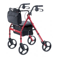 Hugo® Elite Rollator with a seat - Red