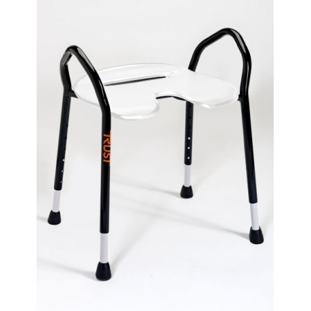 TrustCare® Let's Enjoy White (Shower Stool with handles)