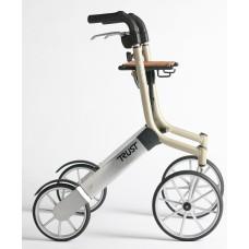 TrustCare® Let'sGo Out Rollator - Beige (With Backrest & Bag)