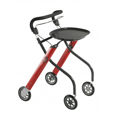 TrustCare® Let'sGo Indoor Walker - Red & Black (With Tray & Bag)